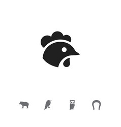 Set of 5 editable zoology icons includes symbols vector