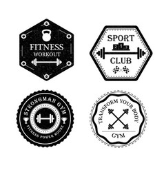 Set of gym and fitness logo vector