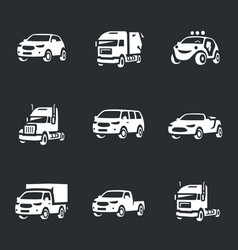 Set of transport icons vector