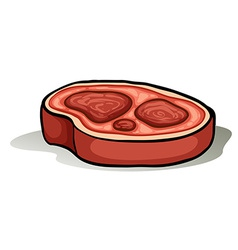 Sliced of a meat vector