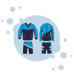 Sport fitness suit vector