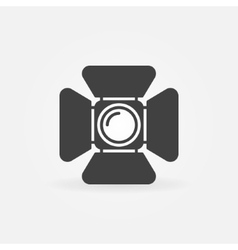 Spotlight logo or icon vector image