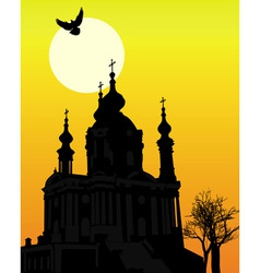 St andrews church in kiev vector
