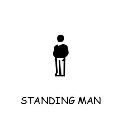 Standing man flat icon vector