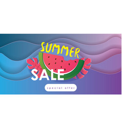 summer juicy abstract background design vector image