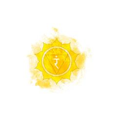 Third chakra of manipura solar plexus chakra logo vector