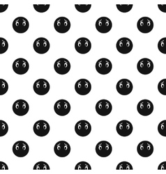 Thoughtful smiley pattern simple style vector