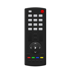 tv remote control with blank buttons vector image