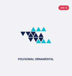two color polygonal ornamental shape triangles vector image