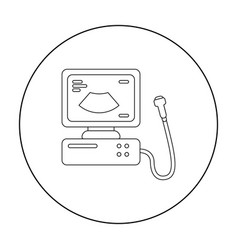 Ultrasound diagnostic icon in outline style vector