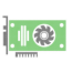 Video gpu card halftone icon vector
