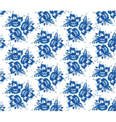 Vintage shabby Chic Seamless pattern with blue vector image