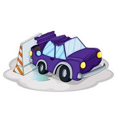 Violet Car Accident vector image