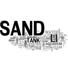 why is sand such an important part of your vector image