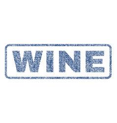 Wine textile stamp vector