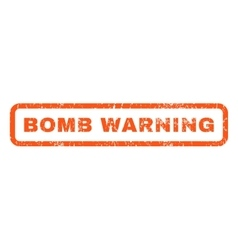 Bomb Warning Rubber Stamp vector image vector image