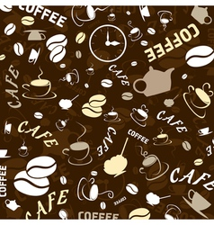 coffee theme wallpaper vector image