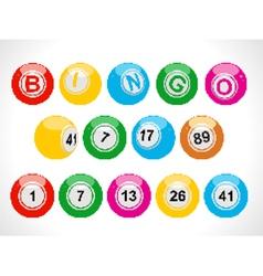 pixel bingo balls vector image vector image