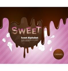 Sweet alphabet vector image
