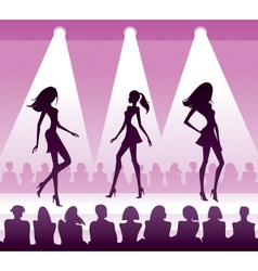 Audience see new clothes at fashion review vector image vector image