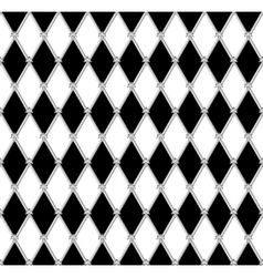 black a white seamless background vector image
