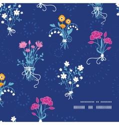 Fresh flower bouquets frame corner pattern vector image vector image