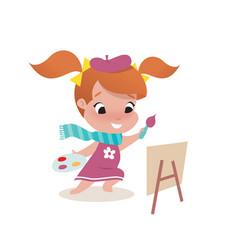 little girl child vector image vector image