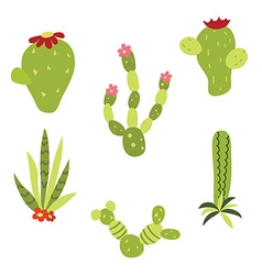 Set of cactus vector image