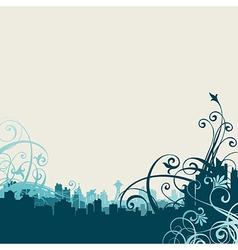 6floral line 38 3 vector image