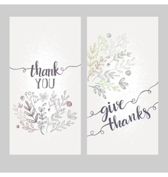 Card with the words thank you vector image vector image