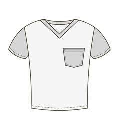 Grey t-shirt design template vector image
