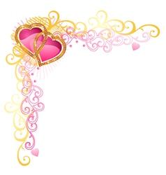 heart of love valentines day corner vector image