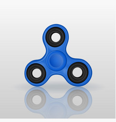 Realistic fidget spinner with mirror reflection vector