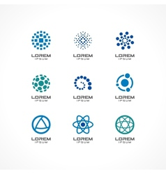 Set of icon design elements vector image vector image