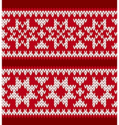 Two knitted patterns with nordic stars vector