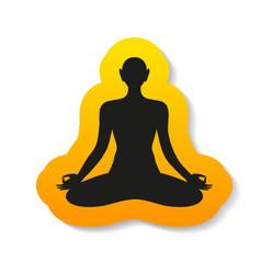 yoga meditation harmony body and soul template vector image