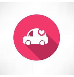 ambulance car icon vector image vector image