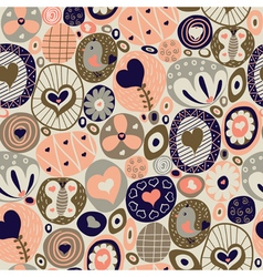 cute pattern with hearts vector image