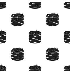 Gunkan maki icon in black style isolated on white vector image vector image