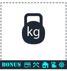 Kettlebell icon flat vector image