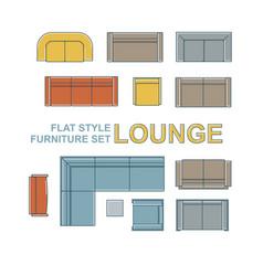 sofas furniture set vector image