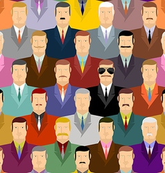 Spy and people Secret agent in glasses among vector image