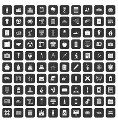 100 company icons set black vector