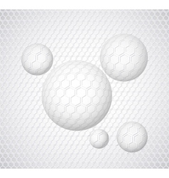 Abstract background with round shapes vector image