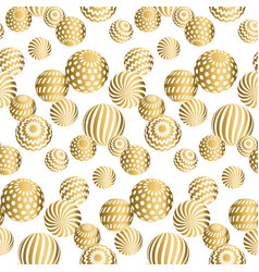 abstract beads seamless pattern in gold xmas color vector image vector image