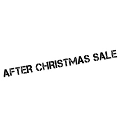 After Christmas Sale rubber stamp vector
