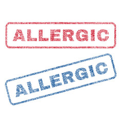 Allergic textile stamps vector