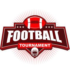 american football tournament logo design vector image