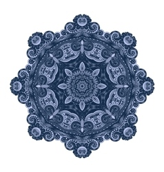 Beautiful Deco Colored contour Mandala vector