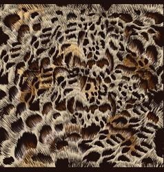 Beautiful fur high detailed leopard pattern vector